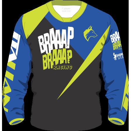 Camisa Piloto Braaap Braap Azul