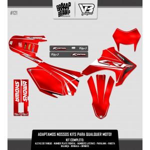 Kit Gráfico VETOR 3 Honda CRF 230 #121 Resinado
