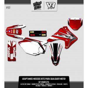 Kit Gráfico VETOR 3 Honda CRF 230 #60 Laminado
