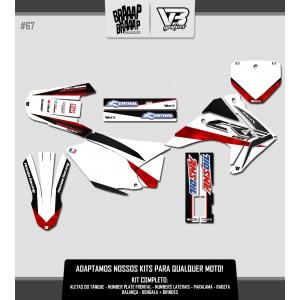 Kit Gráfico VETOR 3 Honda CRF 230 #67 Laminado Fosco
