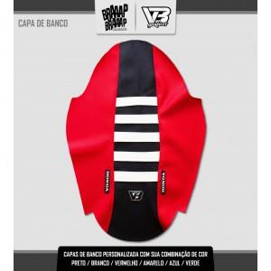 Capa de banco Seat 1 Honda Vermelho/Preto e Branco