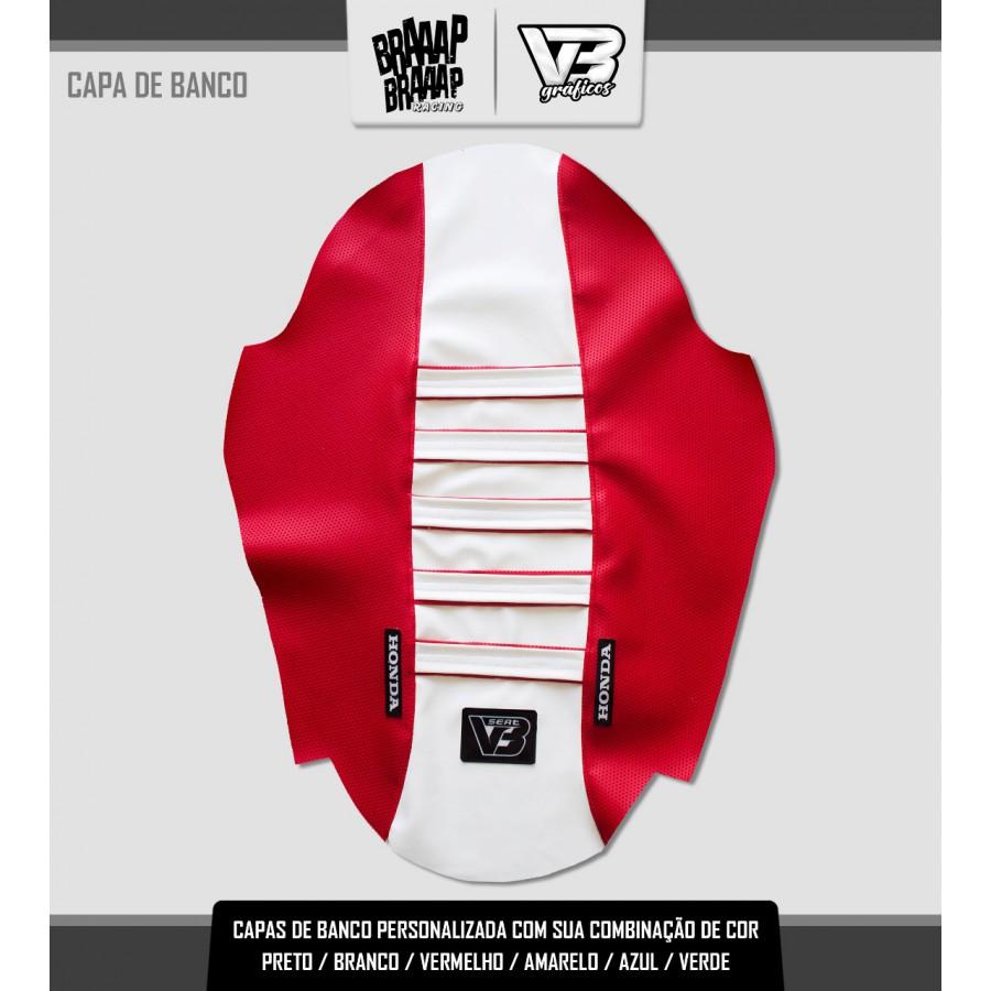 Capa de banco Seat 2 Honda Vermelho e Branco