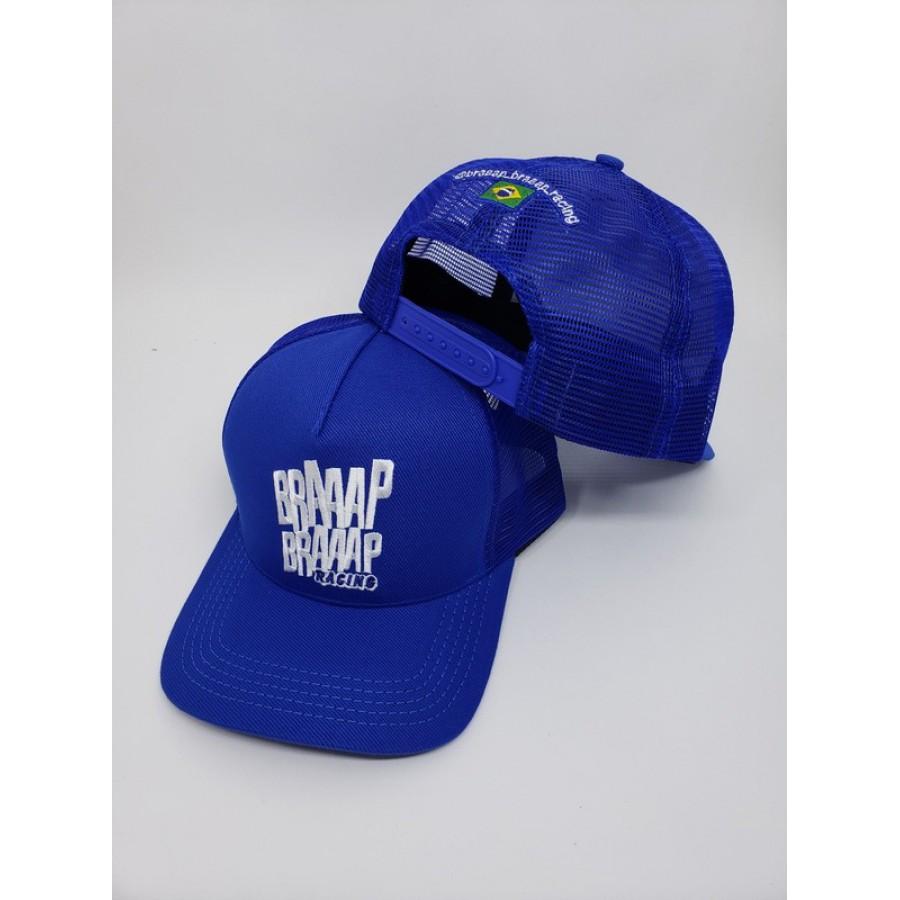 Boné Braaap Braaap Racing Trucker Azul