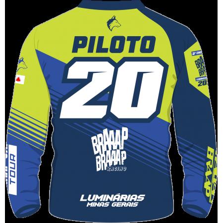 Camisa Piloto Braaap Luminárias 2020