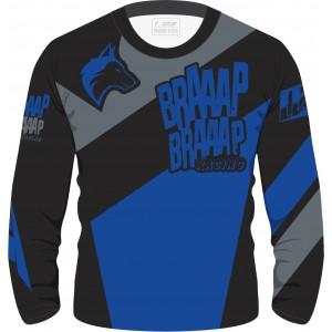 Camisa Piloto Braaap Braaap Azul Infantil