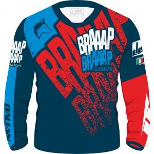 Camisa Piloto Braaap Braaap Racing Azul/Vermelho
