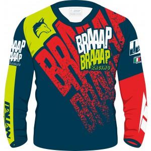 Camisa Piloto Braaap Braaap Racing Fluor 21