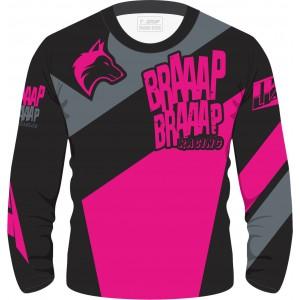 Camisa Piloto Braaap Braaap Pink Infantil 21