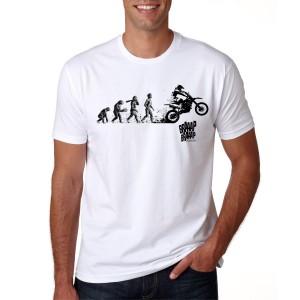 Camiseta Braaap Braaap Racing Básica Gola Redonda Modelo Moto Evolution