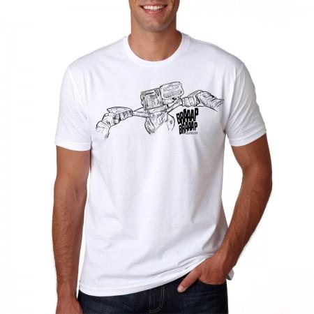Camiseta Braaap Braaap Racing Básica Gola Redonda Modelo Regularidade