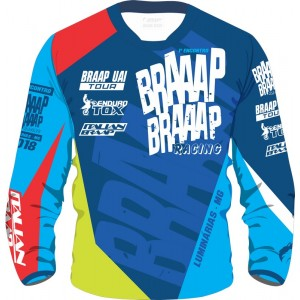 Camisa Piloto Braaap Braaap Racing Lumi